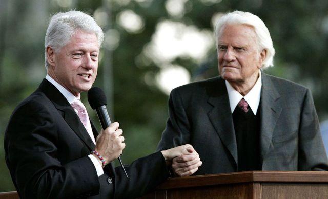 Bill Clinton Billy Graham foto Franklin Graham
